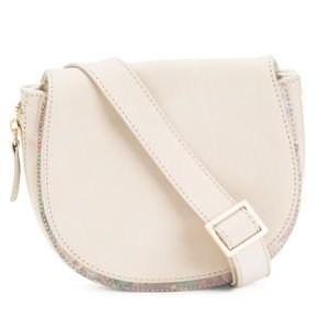 Sakroots Leather Crossbody in Latte White